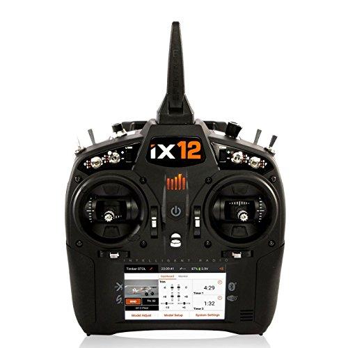 Spektrum Ix12 12-Channel 24Ghz Telemetry Dsmx TXRX Radio System with Ar9030T Rx  250 Model Memory  Touchscreen  WiFi Bluetooth Compatible SPM12000