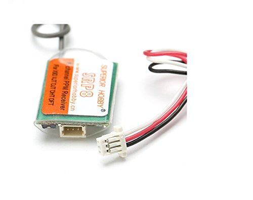 Crazepony SRP8 Mini 8CH PPM Receiver D8 protocol 1G Weight Conpatible for FrSky DHT DFT DJT XJT X9D Plus X9E Transmitter
