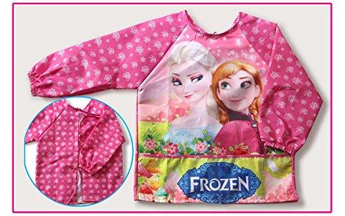 CJB Frozen Elsa Anna Water Resistant Kids School Art Paint Smock Bib Apron with Sleeves - Fever L 3-5 Years Old US Seller