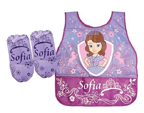 CJB Sofia the First Princess Water Resistant Kids School Art Paint Smock Bib Apron with Muff Sleeves US Seller