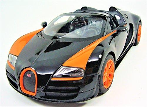 Radio Remote Control 114 Bugatti Veyron 164 Grand Sport Vitesse Licensed RC Model Car Black