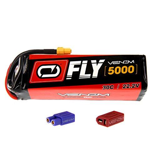 Align T-REX 700L 30C 6S 5000mAh 222V LiPo Battery with UNI 20 plug by Venom Compare to E-flite EFLB50006S30