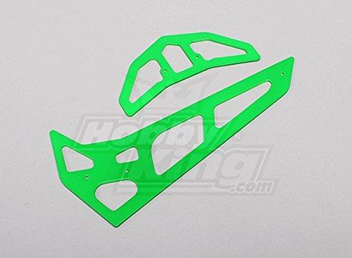 Neon Green Fiberglass HorizontalVertical Fins Trex 700 NitroElectric