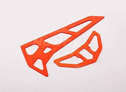 Neon Orange Fiberglass HorizontalVertical Fins Trex 700