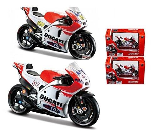 NEW 118 MAISTO MOTORCYCLE COLLECTION - DUCATI CORSE - DUCATI DESMOSEDICI GP15 NDREA DOVIZIOSO 04 ANDREA LANNONE 29 2 Motorcycle By Maisto