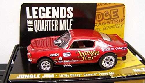 Auto World Legends Jungle Jim 70s Chevy Camaro NHRA Vintage Funny Car 4 Gear HO Electric Slot Car