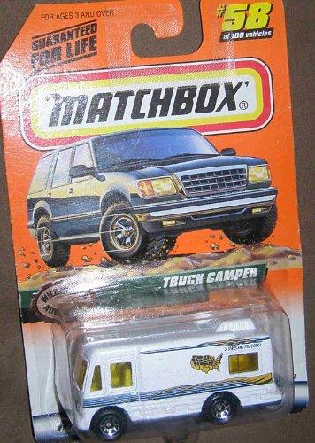 1999 MATCHBOX 58 OF 100 WILDERNESS ADVENTURES WHITE TRUCK CAMPER