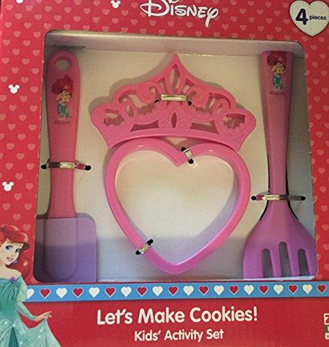 Disney Princess Ariel The Little Mermaid Lets Make Cookies Kids Activity Set ~ 4 piece