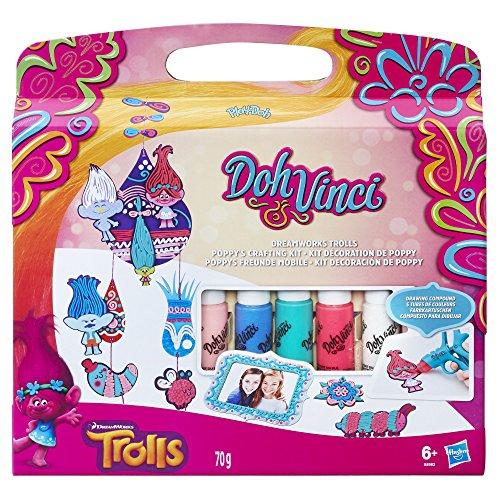 Play-Doh B8983EU40 Dohvinci DreamWorks Trolls Poppys Crafting Kit