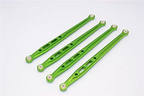 Axial SCX10 Upgrade Parts Aluminum Rear Chassis Links Parts Tree - 4Pcs Set Green
