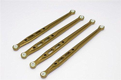 Axial SCX10 Upgrade Parts Aluminum Rear Chassis Links Parts Tree - 4Pcs Set Titanium