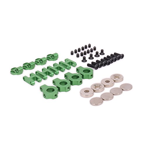 RCAWD Stealth Magnetic Body Shell Mount N10230 6061 Aluminum Alloy for RC Hobby Model Car Crawler SCX10 Upgrade PartsGreen