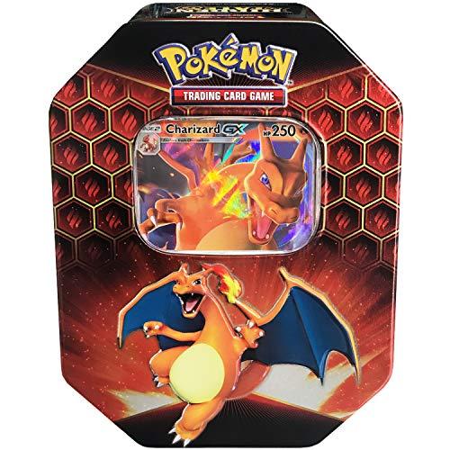 Pokemon SM115 Hidden Fates Gx Tin- Charizard  1 of 3 Foil Pokémon-GX Cards  4 Booster Pack