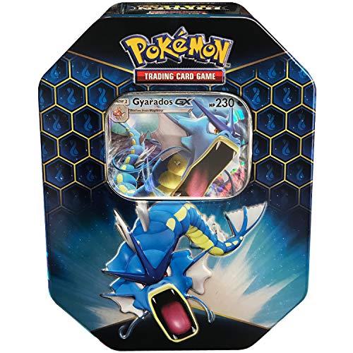 Pokemon SM115 Hidden Fates Gx Tin- Gyardos  1 of 3 Foil Pokémon-GX Cards  4 Booster Pack