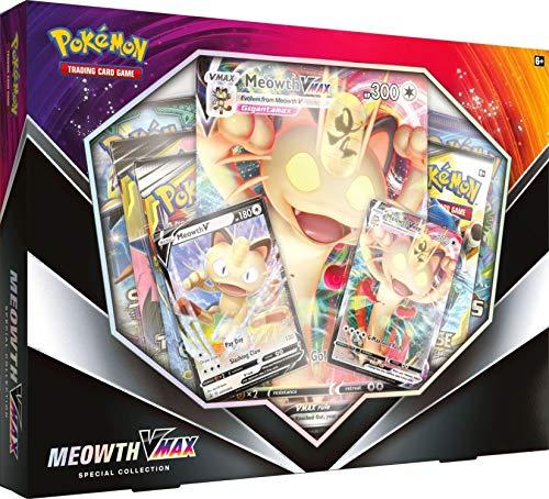 Pokemon TCG Meowth V Teaser Box  5 Booster Packs  2 Foil Promo Cards  1 Oversize Foil Card 820650803949
