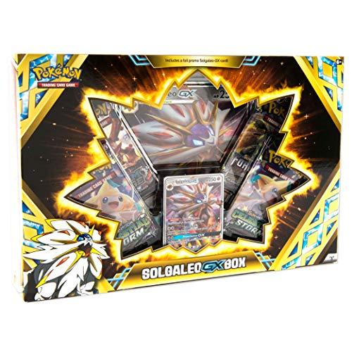 Pokemon TCG Solgaleo GX Box - A Foil Promo Card  A Oversize Foil Card  4 Booster Packs