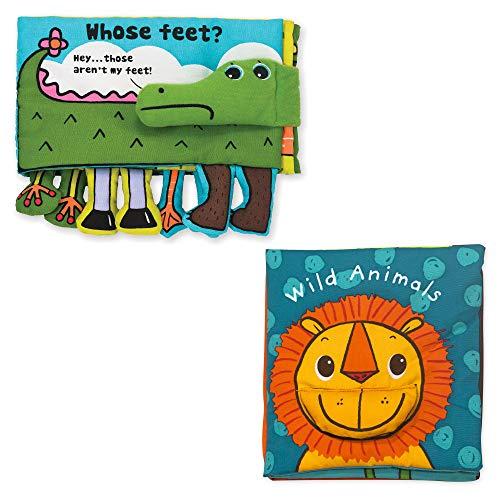 Melissa Doug Ks Kids Soft Activity Baby Book Set Animals Whose Feet and Wild Animals