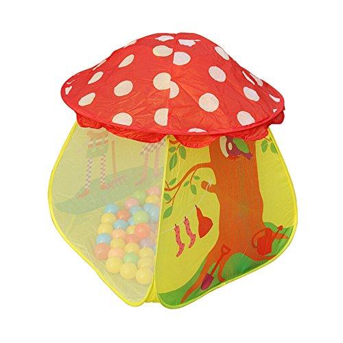 eonkoo Cute Portable Kids Boys Girls Mushroom Tent Toy Children Indoor Outdoor Play House Gift 34 x 34 x 34 inch