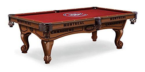 Montreal Canadiens 8 Pool Table - Traditional Mahogany