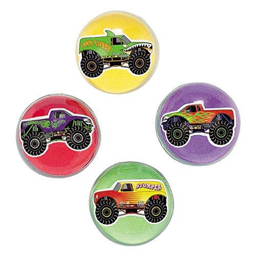 Monster Truck Bouncing Balls 1 Dozen - Bulk