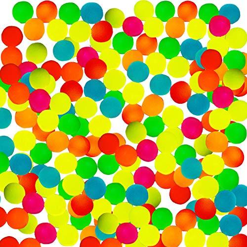 Totem World 144 Glow in The Dark Bouncy Balls - 25mm Neon Bounce Balls - Bulk Pack for Kids Birthday Party Favor Supplies Easter Eggs Stocking Stuffer