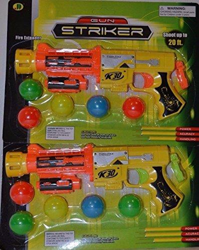 2 Pcs Dart Gun Striker Ball Shooter Gun Fun Toy