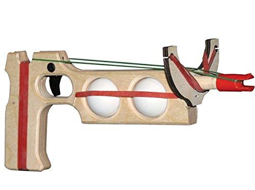 Magnum Enterprises Mini Military Ping Pong Ball Shooter 2-Ball Combo Single Shot Rubber Band Gun