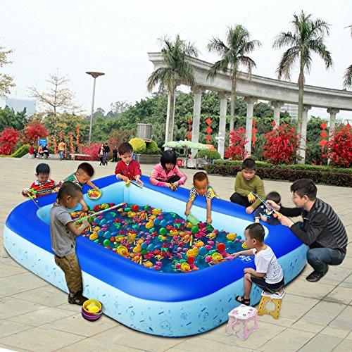Children fishing Chi Jueming basin thickened Chi Bobo inflatable marine ball pool  25516030cm