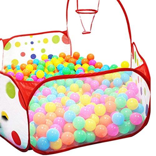 Lisingtool Pop up Hexagon Polka Dot Children Ball Play Pool Tent Carry Tote Toy