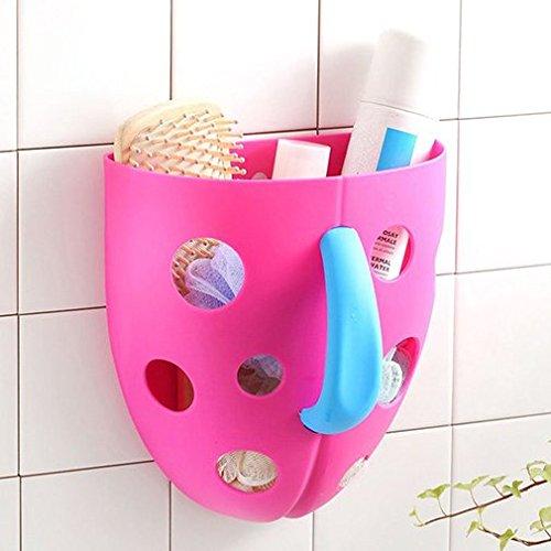 Toddler Baby Bath Toy Organizer Storage Bathroom Bag Kids Net Super Scoop Tub Rose Red