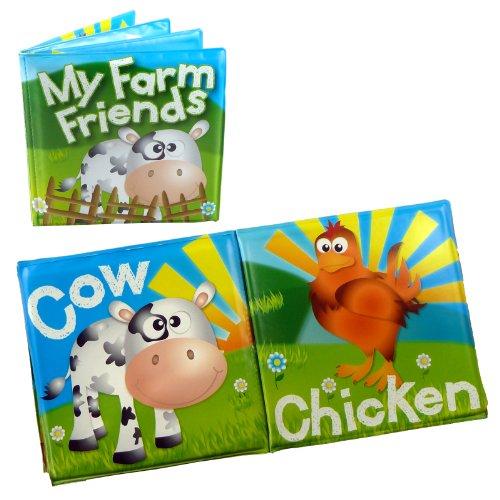 Baby Bath Books - Educational Learning Bath Toy Farm Friends