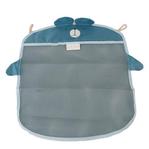 SUNMART USA Baby Bathroom mesh Bag for Bath Toys Bag Kids Basket for Toys net Cartoon Animal Shapes Waterproof Cloth Sand Toys Beach Storage Blue