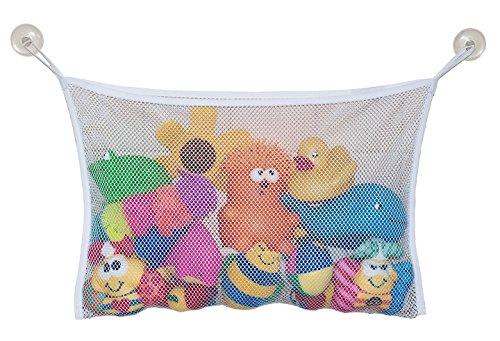 Shopline Kid Bath Toy Storage Organiser Bathroom Tub Mesh Net Bag with 2 Hooks 146 x 142 inch
