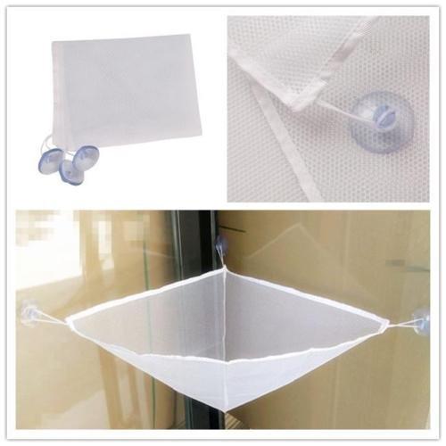 White Bathroom Bath Tub Toy Hanging Mesh Storage Bag Organizer For Baby Kid