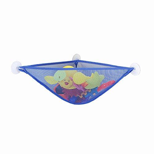 potato001 Bathroom Baby Kid Mesh Storage Bag Organizer Shower Toy Holder with Suction Cups