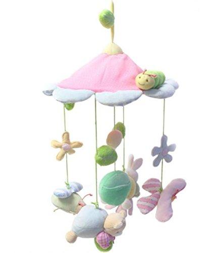 Kawaii animals pink flower baby toy newborn infant eyes hands training mobile baby music rattles stroller bed hanging kid toys bebek hediye bakm