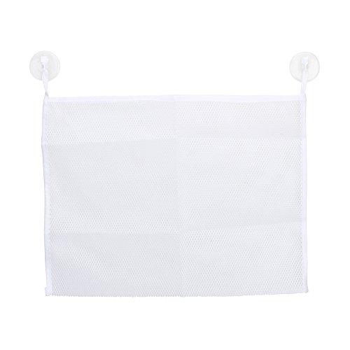 Bath Tub Toy Organizer-Washable Mold Resistant Large Storage Mesh Bag for Bathtub Shower Toys - Fast Drying - 2 Heavy Duty Lock Suction Cups