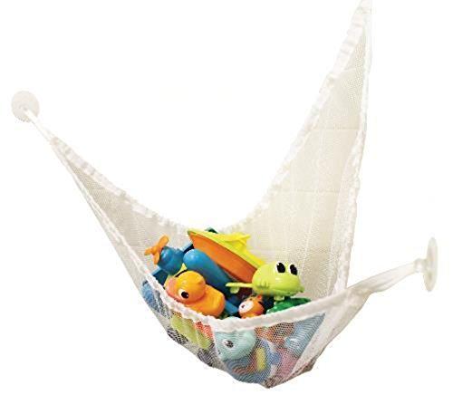 White Baby Bath Hammock Multipurpose Bath Toys Net Shower Organizer - 100 Nylon Bath Tub Toy Bag