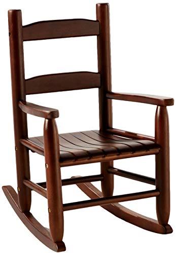 Lipper International Childs Rocking Chair 145 W x 1975 D x 2375 H Walnut Finish