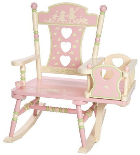 Wildkin Kids Rock-A-My-Baby Wooden Rocking Chair for Boys and Girls Perfect for Big Kids and Little Kids Includes Attached Baby Doll Cradle Rocker Measures 23 x 2375 x 29 Inches Assembly Required