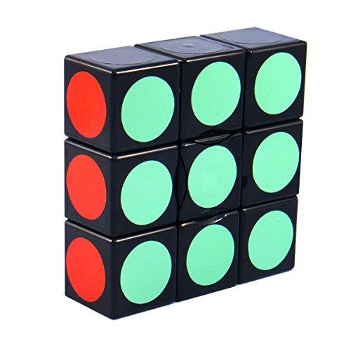 3x3x1 Super Floppy Cuboid Black Puzzle Cube Twisty Toy 1x3x3