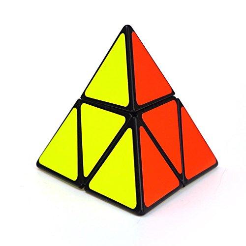 La Tartelette 2x2 Triangle Pyramid Pyraminx Magic Puzzle Cube Black