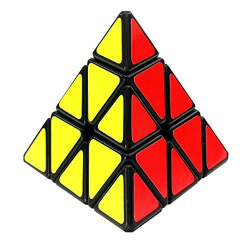 Sunnyhill Pyraminx Speed Cube Pyramid Magic Cube 3x3 Speed Black Puzzle Cube