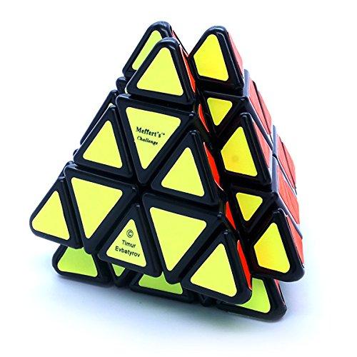 Vulcano Mefferts Black Puzzle Cube Cross Pyraminx Twisty Toy