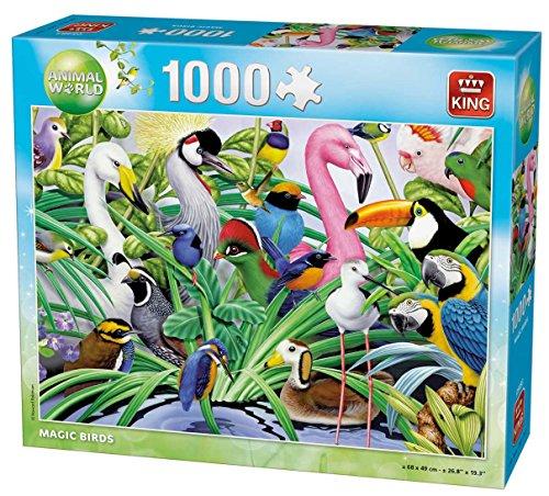 KING 5484 Animal World Jungle Party Jigsaw Puzzle 1000-Piece 49 x 68 cm