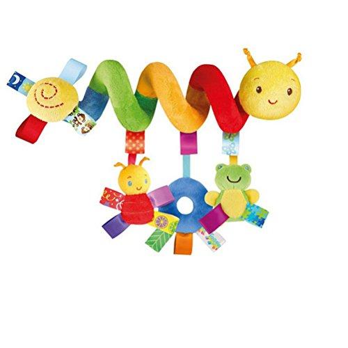 VORCOOL Kid Baby Crib Cot Pram Hanging Rattles Spiral Stroller Car Seat Toy with Ringing Bell
