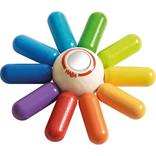 HABA Rainbow Sun Wooden Clutching Toy Rattle Teether
