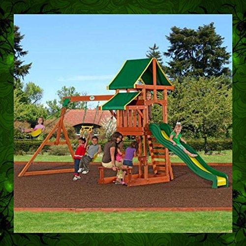 Playground Children Play Swing Set Backyard Kids Climb Slide Activities