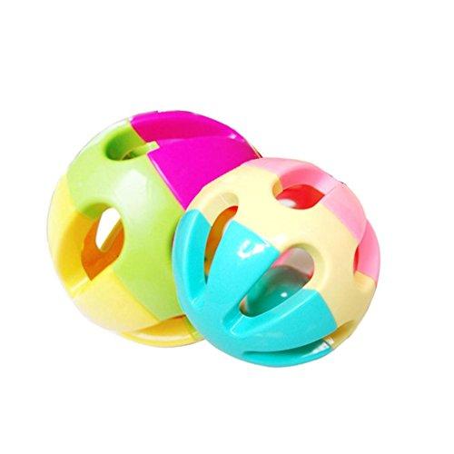 Baby Kids Pram Crib Amusement Colorful Plastic Rattle Shake Bell Ball Toy Random Color