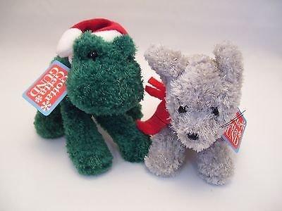 Kringle Jingles Christmas Frog and Mouse Baby Rattle Set